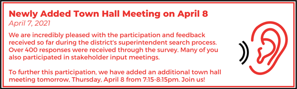 Newly Added Town Hall Meeting on April 8