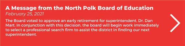 A Message from the North Polk Board of Education
